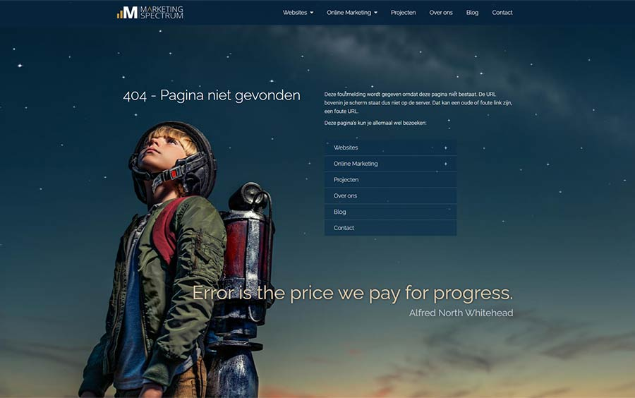 404 pagina marketing spectrum