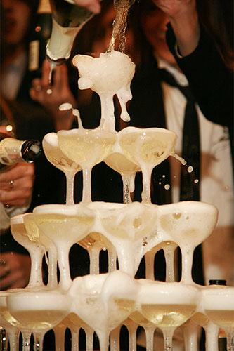 Linkbuilding - link-juice - Champagne toren