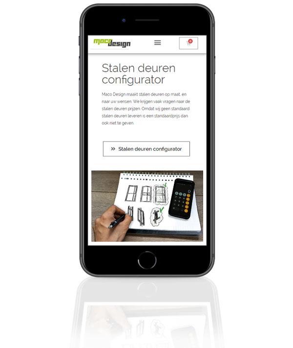 Telefoon met configurator Maco Design