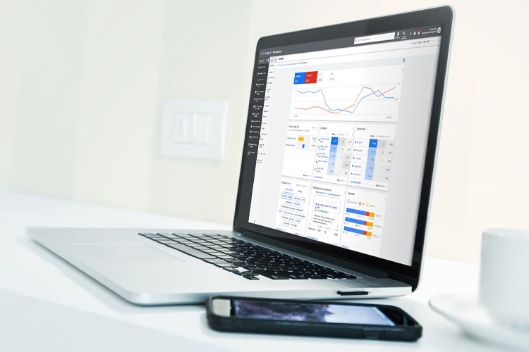 Google ads on a laptop screen - COPYRIGHT MARKETING SPECTRUM