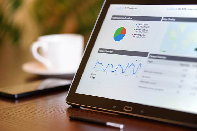 Tablet with search data - representing SEO by Marketing Spectrum