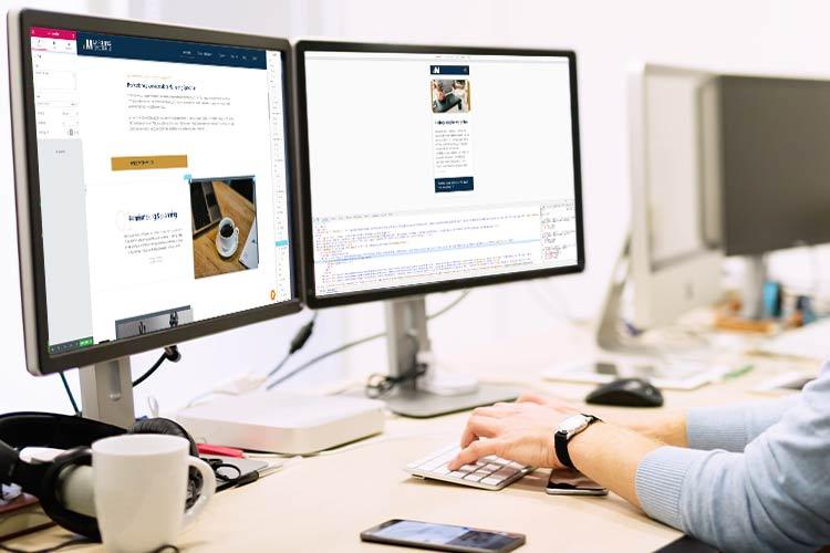 Professionele websites bouwen en ontwerpen op desktop