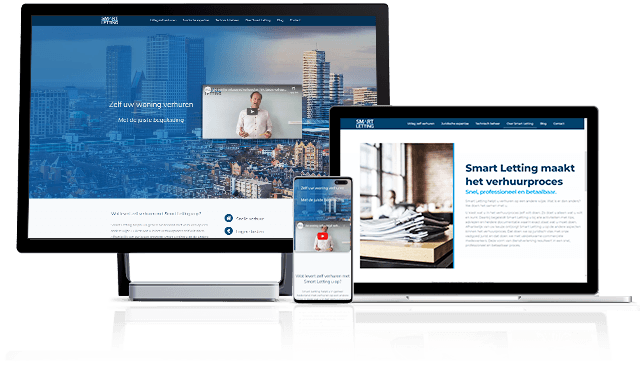 Responsive website Smartletting created by Marketing Spectrum shown on three devices