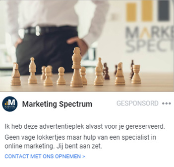 Facebook Ad by Marketing Spectrum