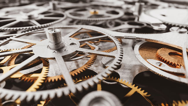 clockwork representing the gears of website optimization